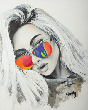 Wendys Art Original Art Pianting-Modern Funk
