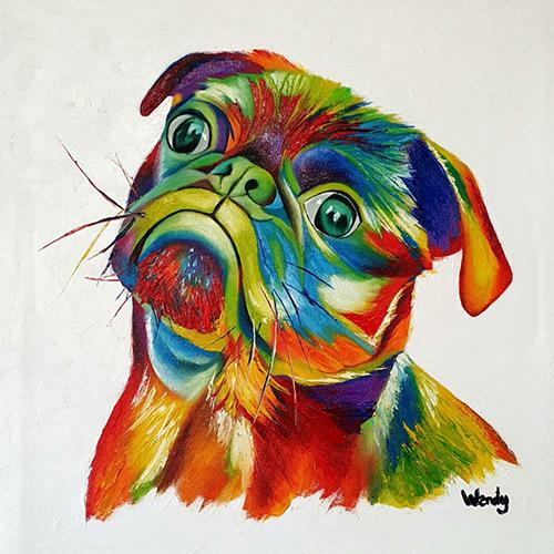Paintbomb-Dog-original painting