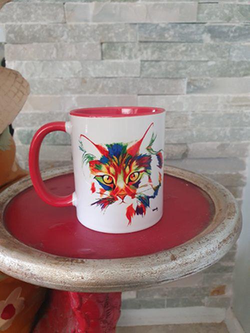 paintbomb cat mug