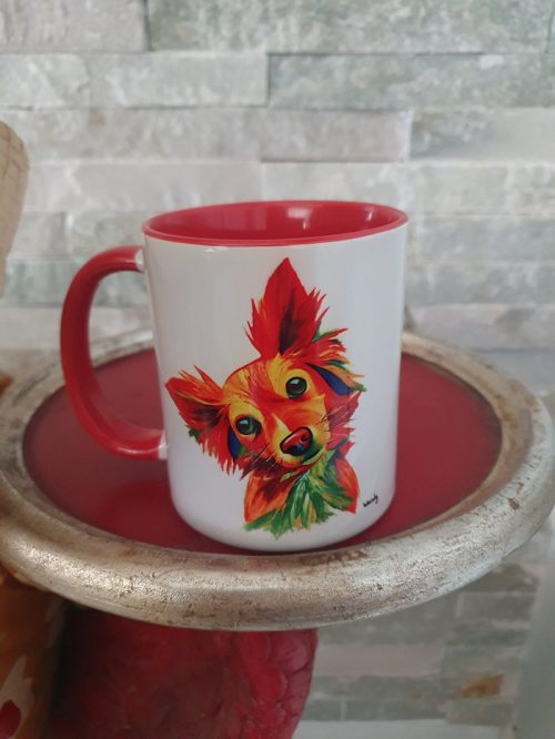paintbomb dog mug