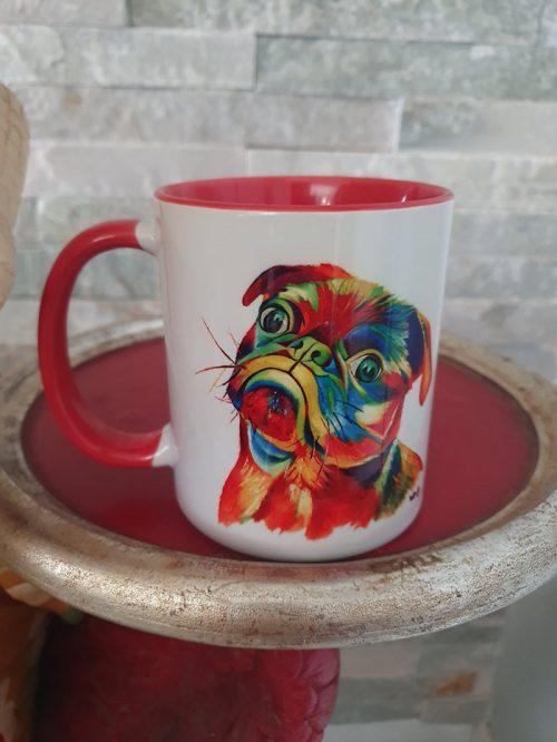 paintbomb pug mug