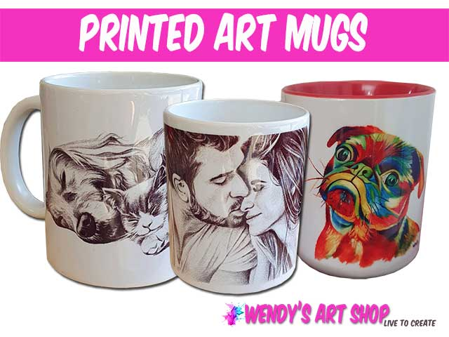 printed art mugs for sale